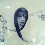 "Samira Abbassy, ""Love and Ammunition 2,"" 2012. Est. Value: $1500"